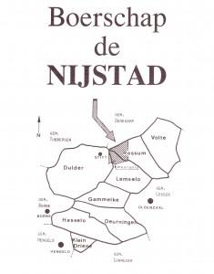 ligging boerschap de Nijstad binnen de oude gemeente Weerselo